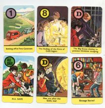 Collectible Vintage cards game The Famous Five by Pepys